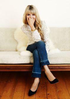 cozy sweater + jeans.