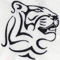 "This embroidery design of a tiger is from Designs by Sicks' ""Wild Animal Head"" collection."