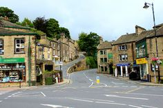 this is the corner in Holmfirth that Rowan yarns opened their first store called 'Up Country'