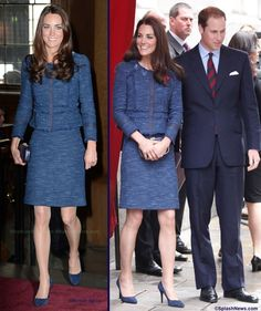 Kate in the Rebecca Taylor separates back in April, 2012, worn again on New Zealand tour