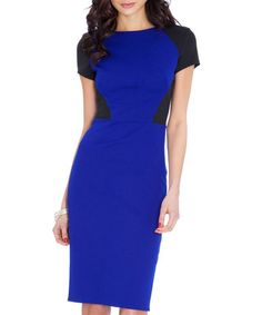 Black & blue bodycon dress Sale - Goddiva Sale