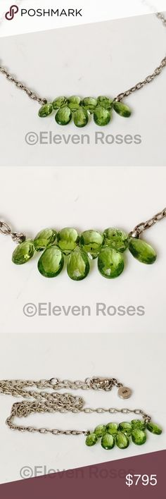 Robin Rotenier Peridot Briolette Necklace Robin Rotenier Peridot Briolette Necklace - 925 Sterling Silver -  Peridot Briolette Gemstones - Hallmarked; 925, Rr - Preowned / Preloved   May Show Slight Signs Of Having Been Worn.    Listing Images Are Of Actual Item Being Offered Robin Rotenier Jewelry Necklaces