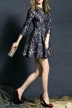 Sweetsmile Purplish Blue Rhinestone Mini Fit And Flare Dress | Mini Dresses at DEZZAL Click on picture to purchase!
