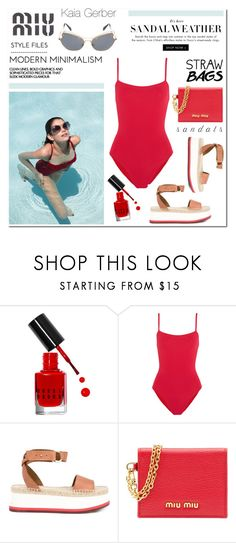 """""""Sandal Weather"""" by fleur-353 ❤ liked on Polyvore featuring Gerber, Bobbi Brown Cosmetics, Eres, STELLA McCARTNEY and Miu Miu"""