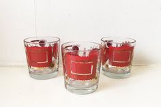 Vintage Low Ball Glasses Jeanette Mad Men by CheckEngineVintage