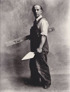 Bricklayer, Working Trades by Irving Penn, 1950