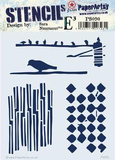 Paper Artsy - Stencil - {ESN} 090 by Sara Naumann