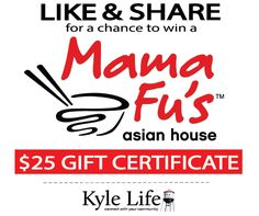 *GIVEAWAY* $25 Gift Card to Mama Fu's in Kyle, Texas!