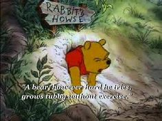 But not too much food, because… | Community Post: 18 Things Winnie The Pooh Taught Us About Growing Up