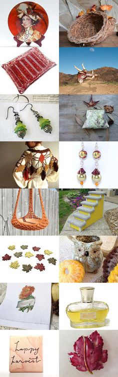 Autumn Makes Me Spin Right Round! by Betty J. Powell on Etsy--Pinned with TreasuryPin.com
