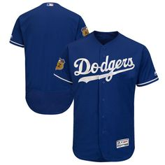 Los Angeles Dodgers Majestic 2017 Spring Training Authentic Flex Base Team Jersey - Royal - $220.99