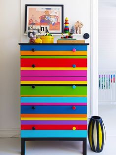 Grab some paint and DIY this bright IKEA dresser.