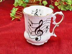 Music Note Porcelain Mug MADE IN USA