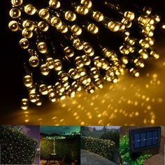 Solar String Lights by FirstLights 100 LED Warm White - Great For Party - Dancing - Outdoor - Christmas Decorating. Weatherproof - No Batteries Required. Brighten Your Patio Now! FirstLights