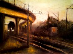 The last train 31 x 43 cm // 12.2 x 16.9 inches Oil on fiberboard Available