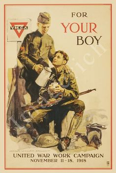 World War 1 Poster - For your boy United War Work Campaign