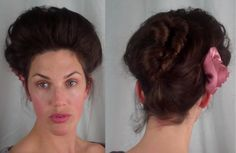 How to EDWARDIAN 'Psyche knot' Hair Tutorial (1900's 1910's hairstyle ) ...