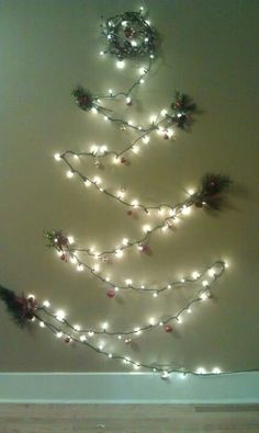 Christmas Tree On Wall With Lights lights only wall tree project first christmas tree using command