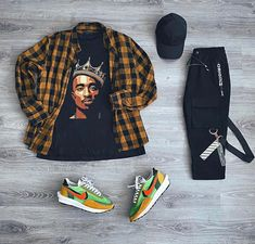 Dope Outfits For Guys, Summer Outfits Men, Trendy Outfits, Outfit Grid, Tomboy Fashion, Look Fashion, Mens Fashion, Mode Streetwear, Streetwear Fashion