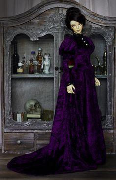 Respected Woman OOAK handmade dress set for bjd dollfie by AyuAna