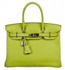 Hermes Birkin 30cm Vert Anis Togo Leather Handbag