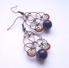 #wirewrapping #handmade #copper #jewellery #favola