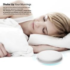 SmartShaker by iLuv (Wireless App Controlled Bluetooth Bed Alarm Shaker ideal for Heavy Sleepers & People with Hearing Loss) for Apple iPhone, Samsung GALAXY and other