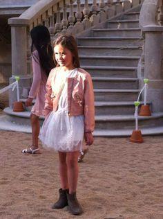 Lola de Sugar Kids para pasarela Adolfo Dominguez
