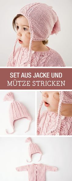 DIY-Anleitung: Set aus jacke und Mütze für Babys, Babyoutfit selbst stricken / DIY tutorial: set containing jacket and matching cap for babies, knitting baby outfit yourself via DaWanda.com