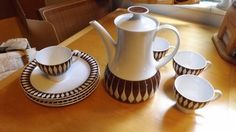 Mid Century German Made Thomas  Coffee Set, Danish, Catherineholm