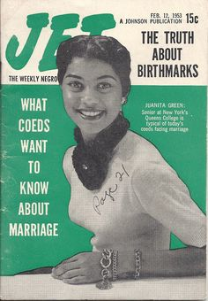 What Coeds Like Juanita Green Want To Know About Marriage - Jet Magazine, February 1953 Jet Magazine, Black Magazine, Life Magazine, Music Magazines, Old Magazines, Vintage Magazines, Vintage Photos, Ebony Magazine Cover, Magazine Covers