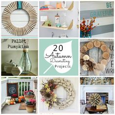 20 autumn decorating projects, some are super cute & cheap!
