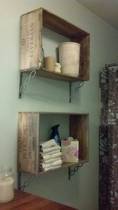 wine crate craft ideas reclaimed wood accent wall mounted tv www 5728