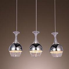 Modern Creative 3 Light Pendant in Shape Of Goblet