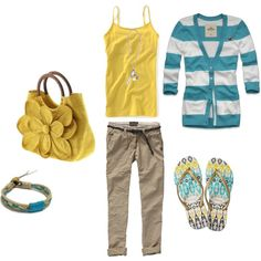 Vacation Day, created by thetrendyhomemaker on Polyvore