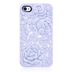 Violet Rose Embossing Case for iPhone 4/4S