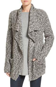 Eileen Fisher Organic Cotton & Alpaca Drape Front Cardigan (Regular & Petite) available at #Nordstrom