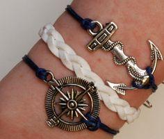 Antique Silver Bracelet Sailor bracelet by JewelryonlyforYou, $6.99