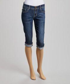 Look what I found on #zulily! Blue Denim Bermuda Shorts #zulilyfinds