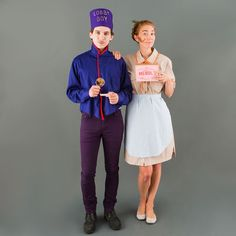 Dress up as Agatha and Zero from Grand Budapest Hotel for Halloween.