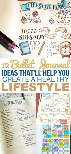 These bullet journal ideas for weight loss are PERFECT for the New Year! #newyear #resolution #health #bulletjournal #bujo #bujoideas
