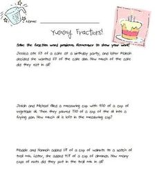 FREE Yummy Food Fractions Activity (CUSTOMIZABLE)  $0