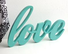 Wood Word Sign 'Love' for Wedding or love story by PurpleGolg