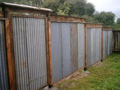 All Recycled Corrugated Metal Fence — Lush Planet Design Buildgallery