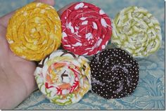 Flowers (I like headbands too, but want these little flower disks more!!