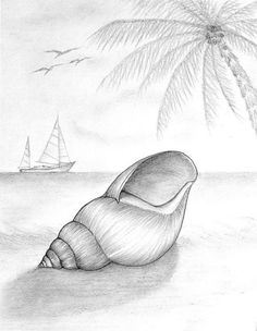 easy pencil drawings for beginners Easy Pencil Drawings, Pencil Sketch Drawing, Pencil Drawing Tutorials, Art Drawings Sketches, Realistic Drawings, Cool Drawings, Drawing Ideas, Drawing Tips, Scenery Drawing Pencil