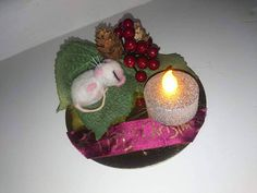 This item is unavailable Felt Christmas, Christmas Bulbs, Christmas Decorations, Holiday Decor, Felt Mouse, Twas The Night, The Night Before Christmas, Needle Felting, My Etsy Shop