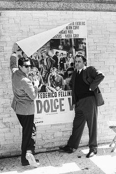 madsmikkelsenn:  Marcello Mastroianni and Federico Fellini