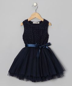 Take a look at this Navy Rosette Tutu Dress - Girls by Designer Kidz on #zulily today!