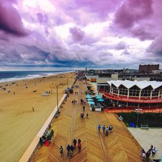 The boardwalk in Asbury Park, New Jersey. Photo courtesy of robinthesky on… New Jersey Beaches, Nj Beaches, Nj Shore, East Coast Usa, Beach Boardwalk, Beach Activities, Beautiful Sites, Beach Town, Adventure Is Out There